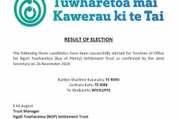 2020 Trustee Election Results